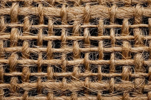 Rough texture of woolen threads