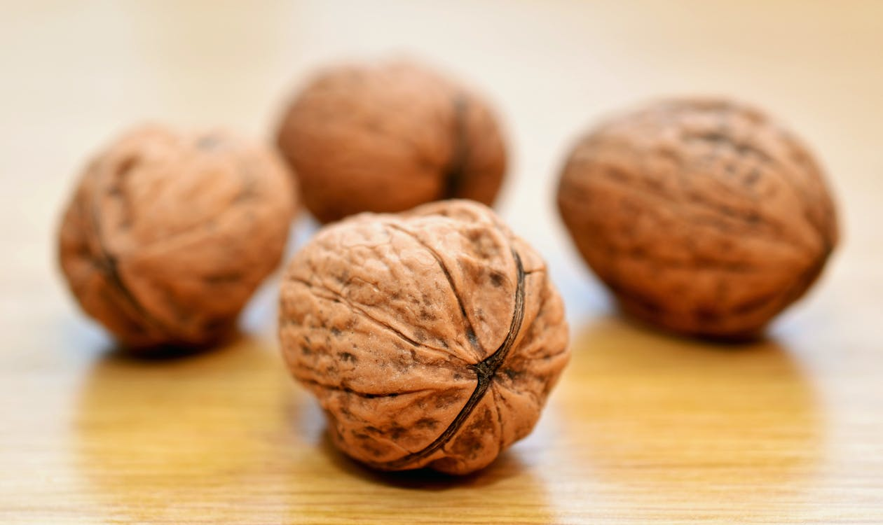 Brown Nuts on Table