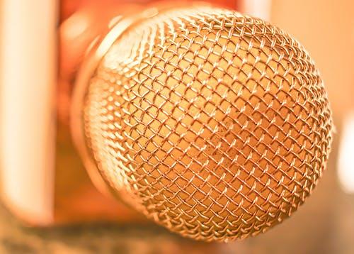 Immagine gratuita di mic, microfono, oro