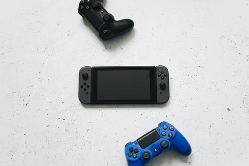 Black and Blue Sony Ps 4 Game Controller