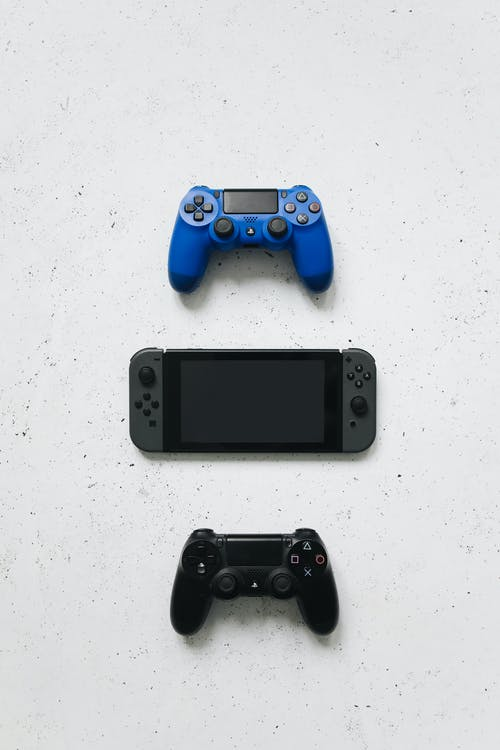 Blue Sony Ps 4 Game Controller
