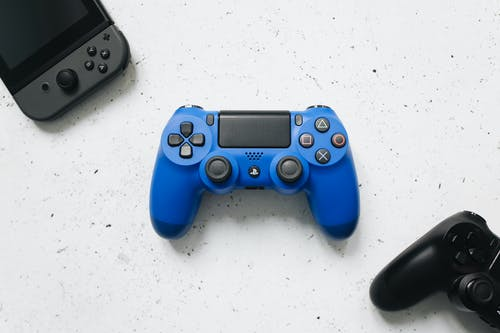 Blue Sony Ps 4 Controller