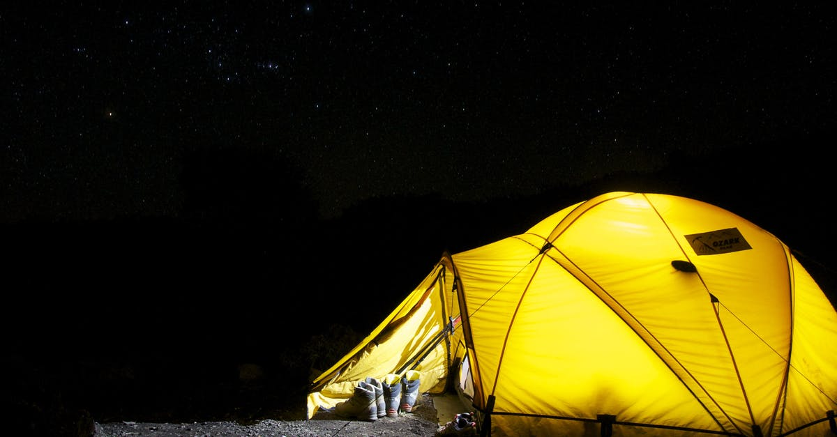 Yellow Tent Under Starry Night · Free Stock Photo