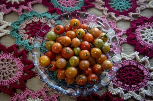 Free stock photo of balls, bowl of fruit, cherry tomatoes, crochet