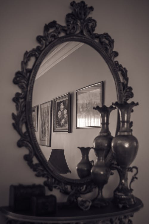 Free stock photo of home, mirror, portraits, reflect