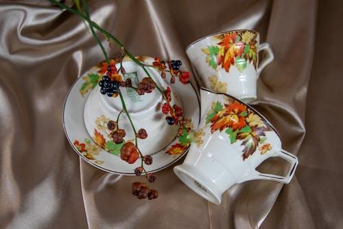 Free stock photo of autumn, autumn colors, crockery, flower arrangements