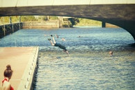 sunny, summer, lake