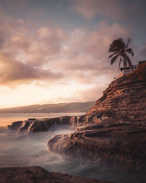 Foto profissional grátis de abismo, acima das nuvens, água, alvorecer