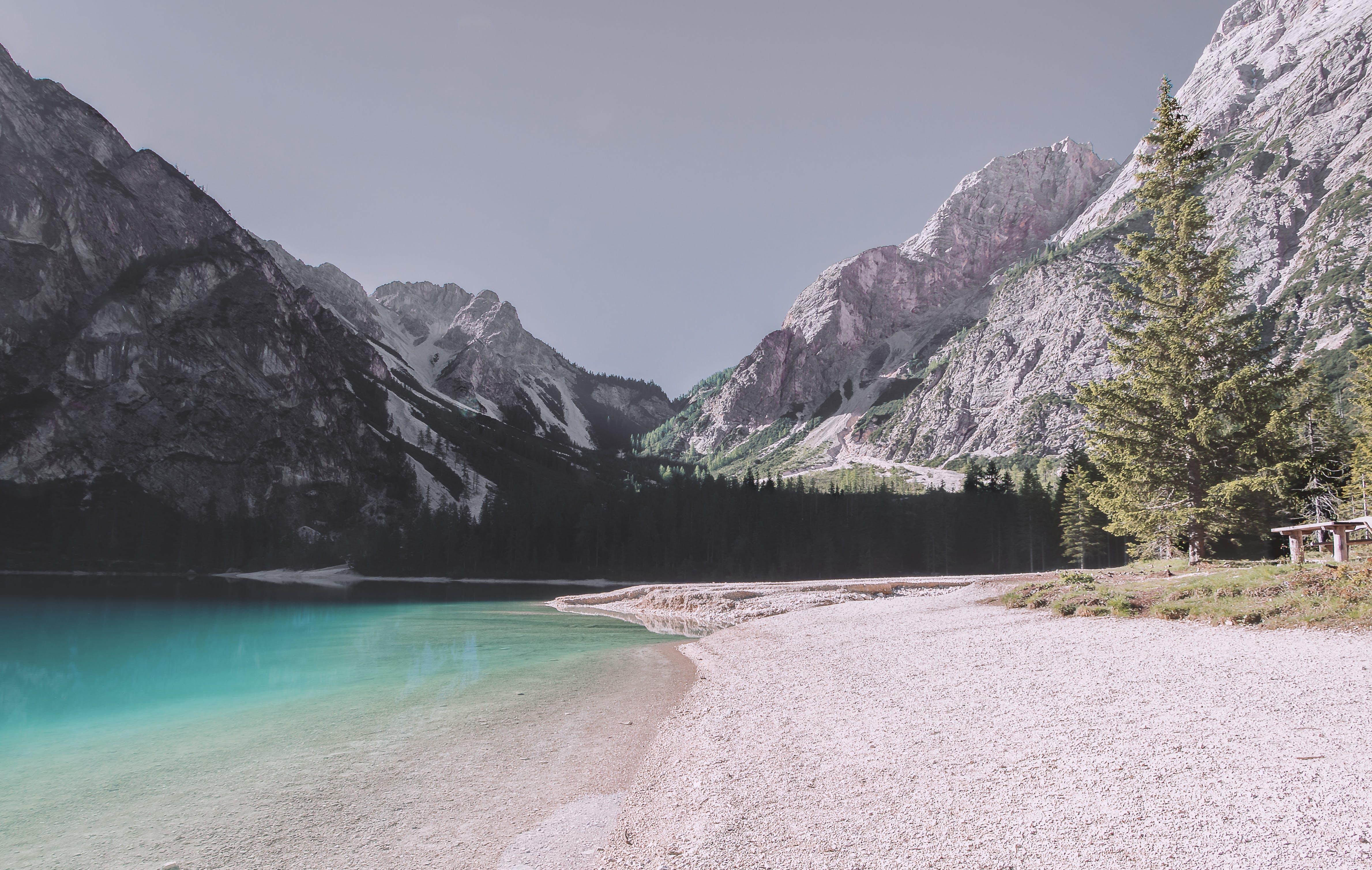 White Mountain Ridge Near Body of Water