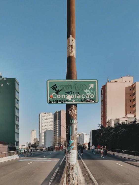 Placa De Rua Verde E Branca