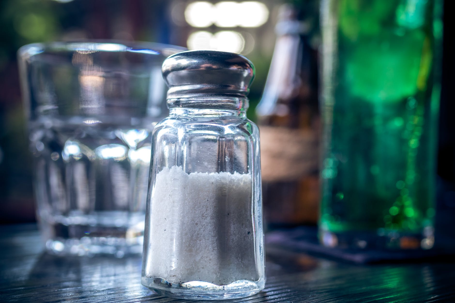 Salt with alcohol background