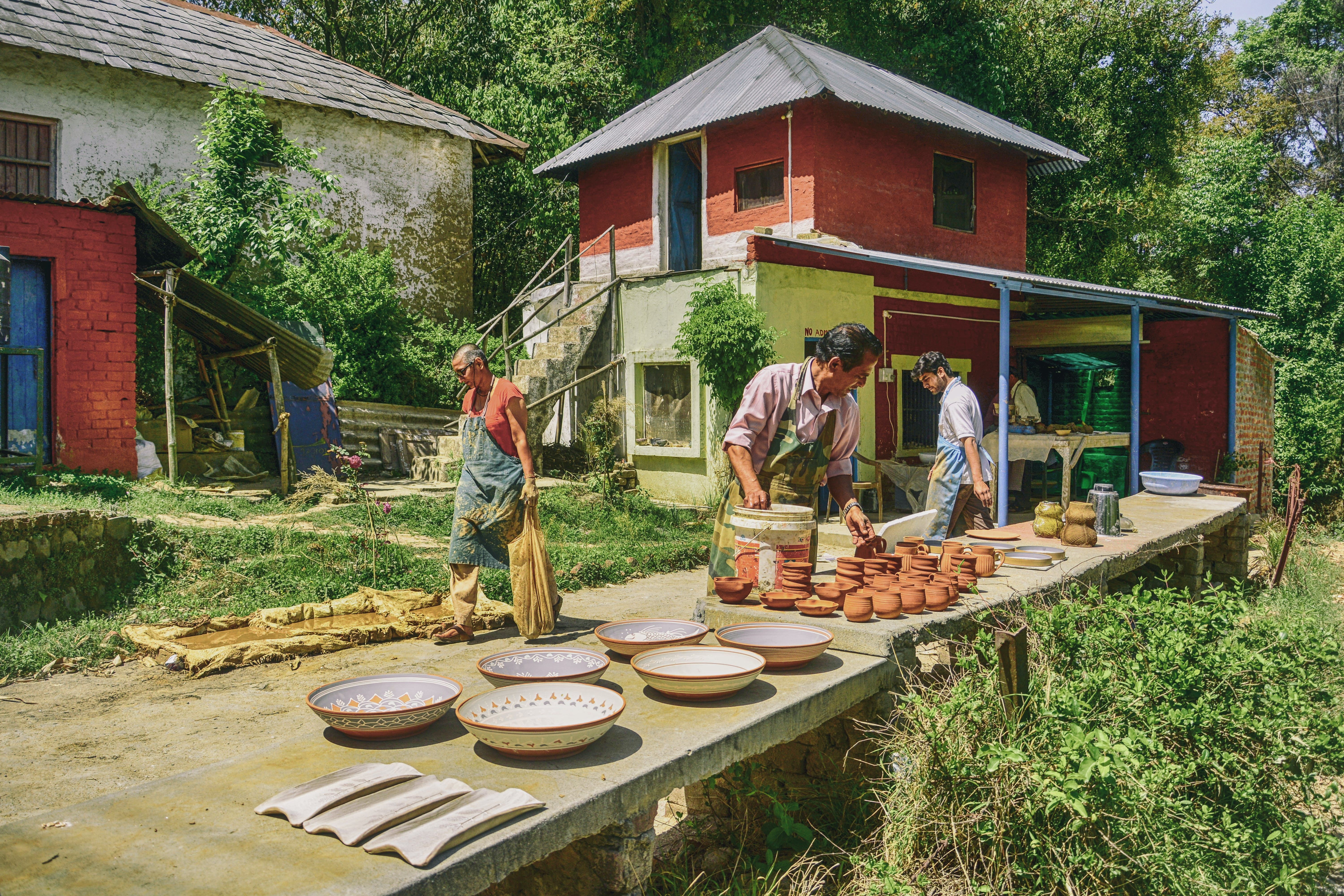 Free stock photo of andretta, cooking pots, india, pots drying