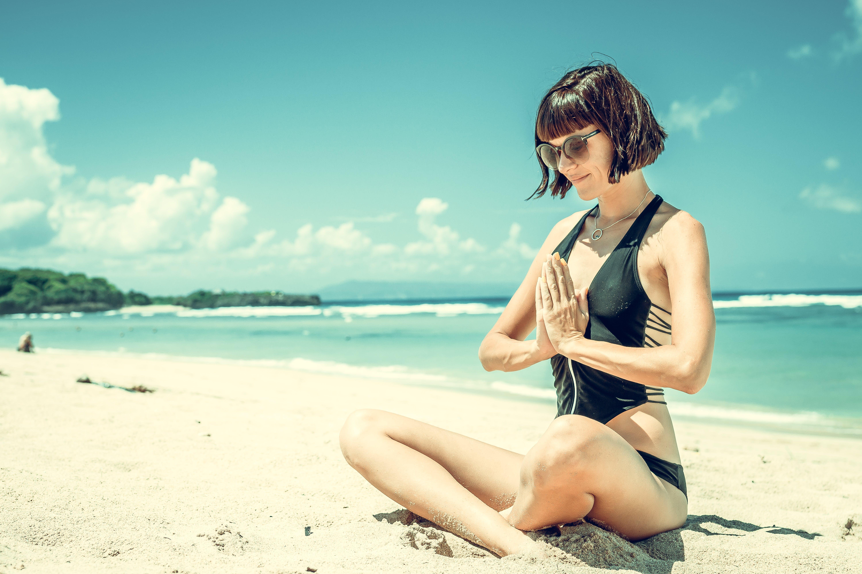 Photography of Woman Wearing Black Bikini