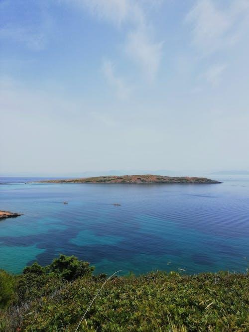 Free stock photo of blue, canoeing, greece, horizon