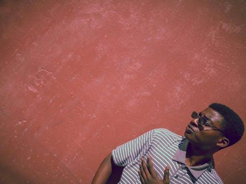 Free stock photo of african, black man, block wall