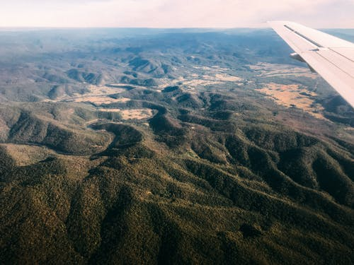 Free stock photo of arid, landscape, plane, view
