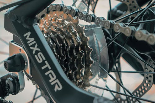 Black and Silver Bicycle Wheel