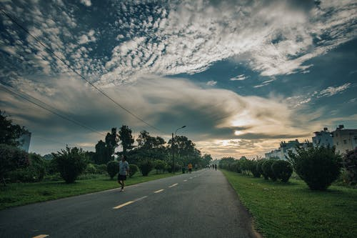 Immagine gratuita di alba, albero, campo, cloud