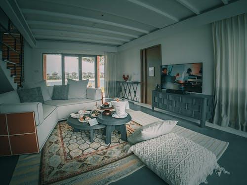Cozy interior design of living room