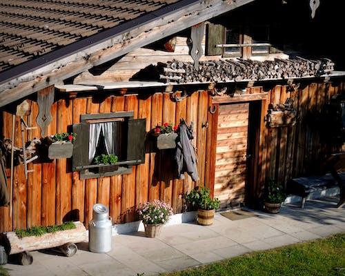 Free stock photo of Alpen, frieden, holzhütte, morgenlicht