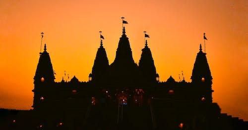 Free stock photo of Beautiful sunset, Golden Temple, Hindu temple, orange