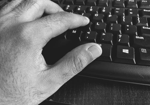 Free stock photo of black and white, business, computer, distance learning