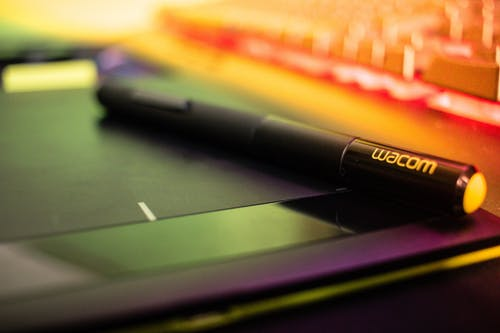 Free stock photo of graphic, pen, tablet
