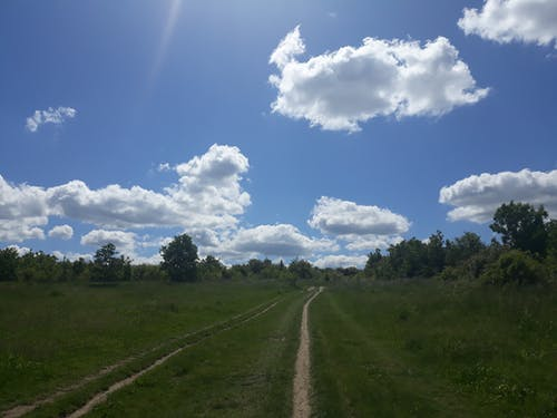 Free stock photo of clouds, path, sky blue