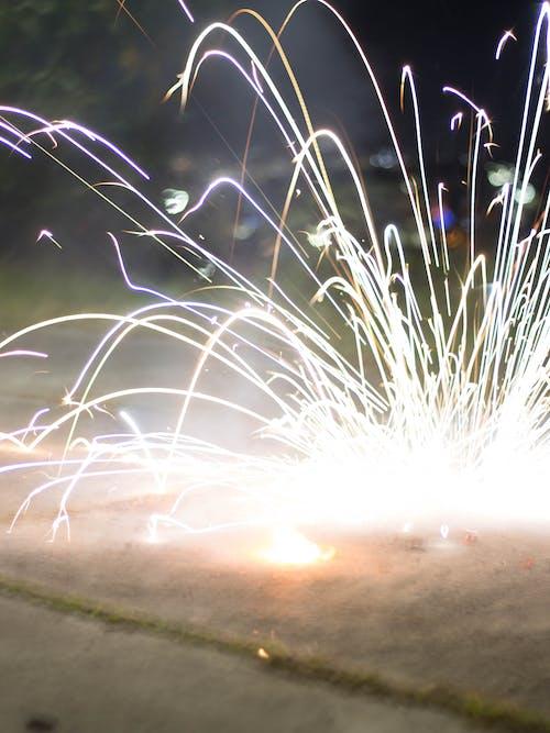 彩燈, 明亮的燈光, 火, 焰火 的 免費圖庫相片