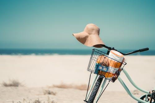 빈티지 자전거, 선햇, 여름, 여름 배경의 무료 스톡 사진
