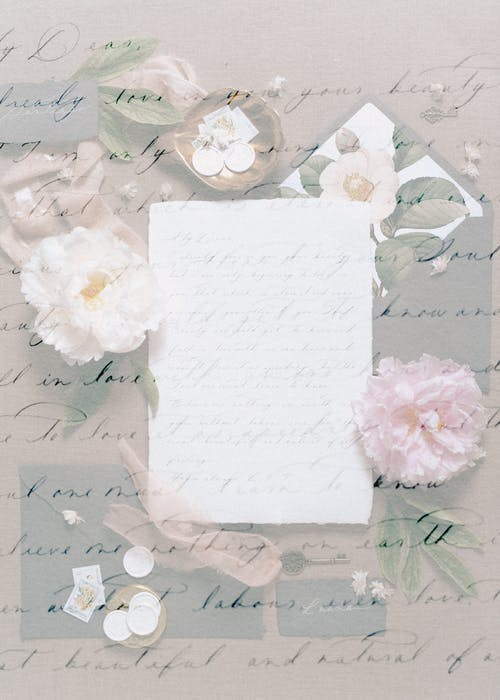 White Paper With Pink Flowers