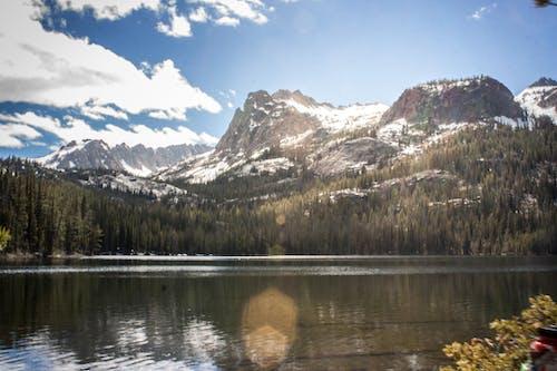 Free stock photo of mountain lake, mountains, snow capped mountain
