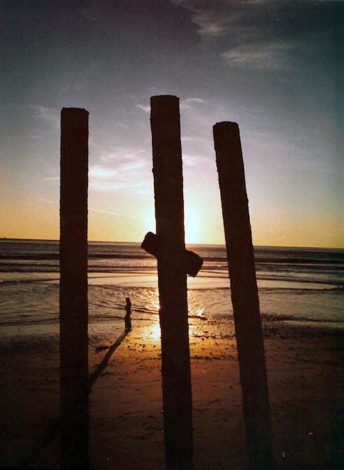 Free stock photo of beach cross