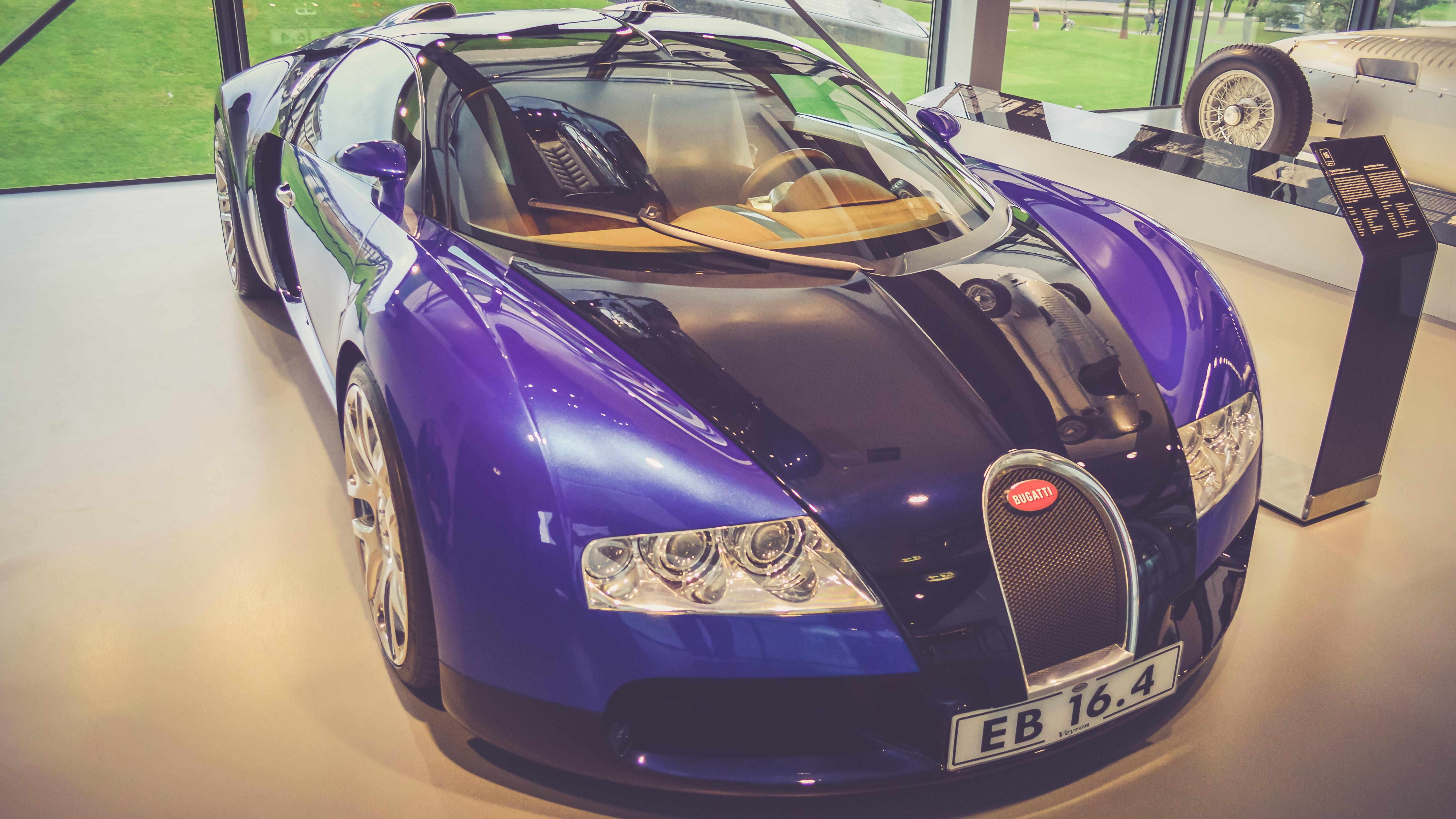 Purple Bugatti Veyron Free Stock Photo