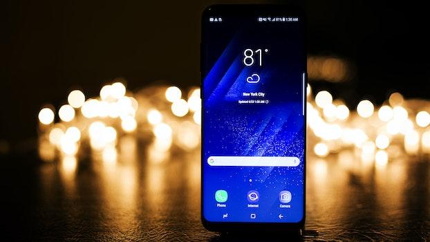 Free stock photo of lights, smartphone, dark, technology