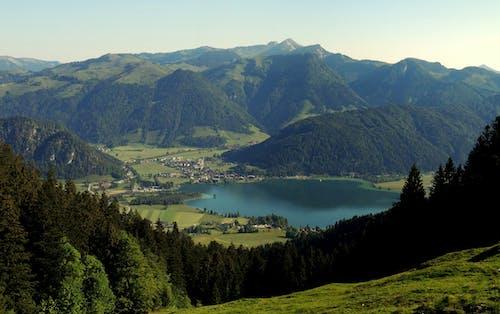 Free stock photo of Alpen, ausblick, blauer see, blick auf die berge