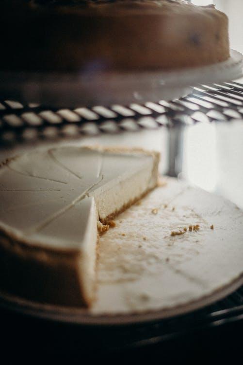 Sliced Pie on Black Metal Grill