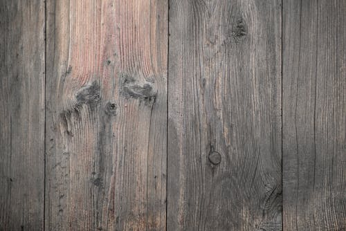 Wooden gray planks placed close to each other