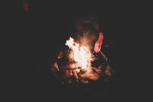 Free stock photo of black, bonfire, dark, fire