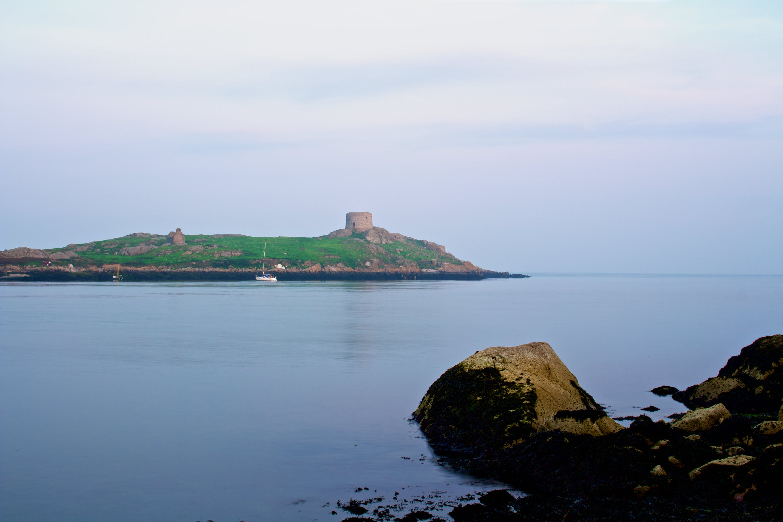 island, lake, sea