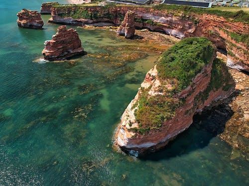 Free stock photo of aerial photography, beach, big rocks