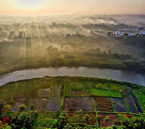 Photos gratuites de aérien, agriculture, architecture, aube