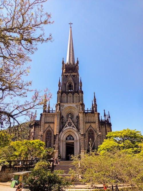 Fotobanka sbezplatnými fotkami na tému aparência gótica, Brazília, catedral, cristo