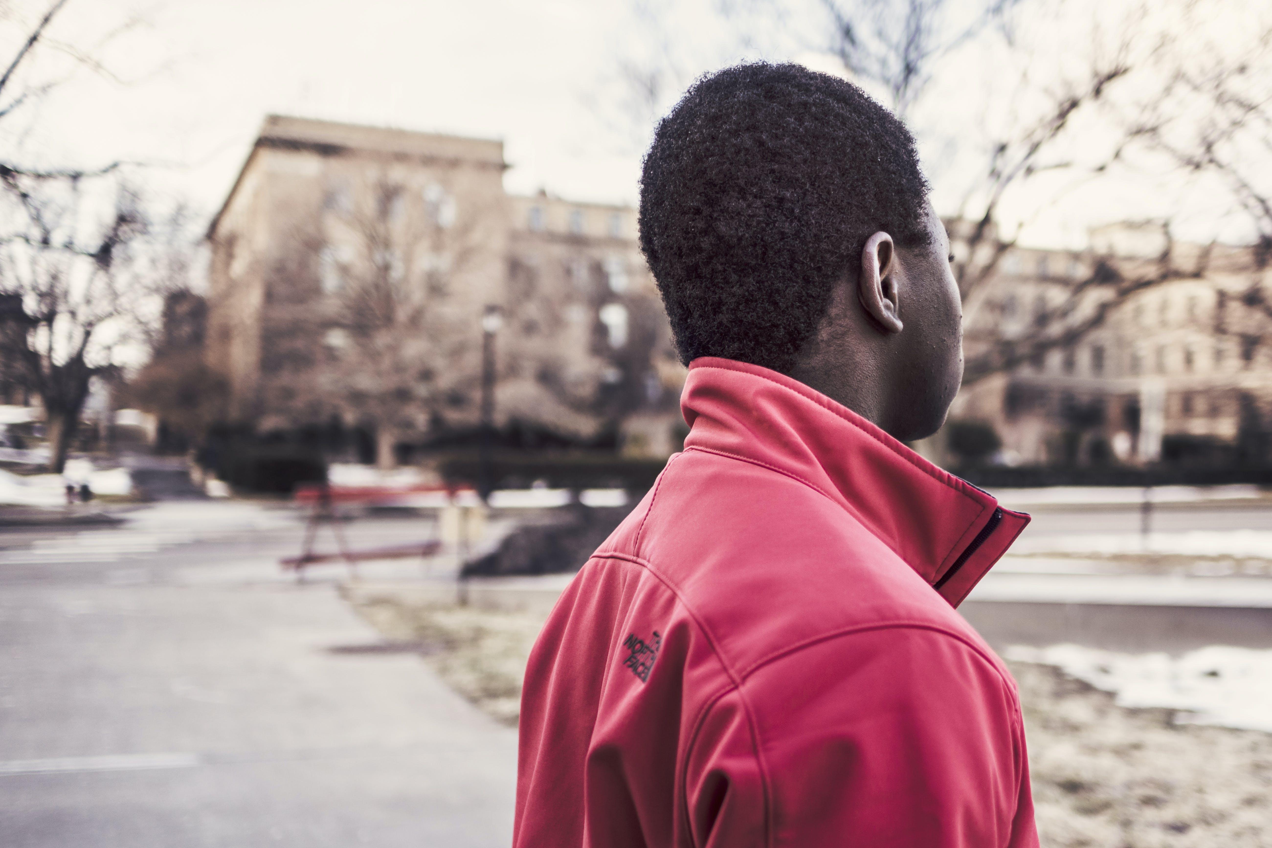 Man Standing Outdoor