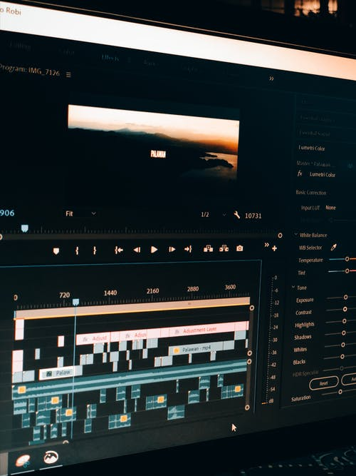 Free stock photo of video editing