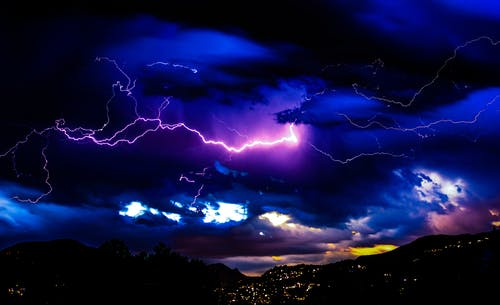 Free stock photo of clouds, lightning, lightning strike, sky