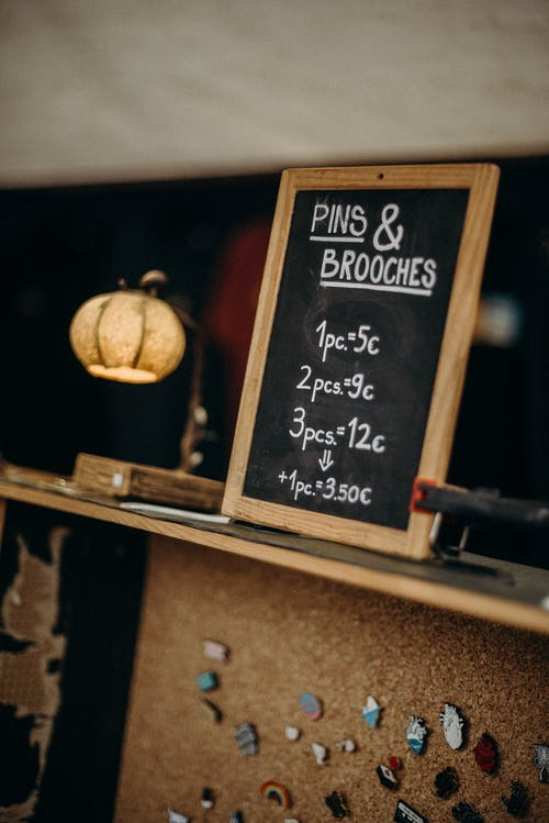 Black and Brown Wooden Chalk Board