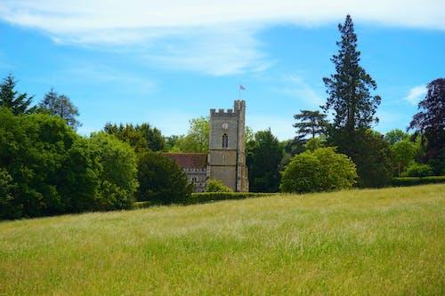 Foto profissional grátis de árvores, capela, catedral, céu