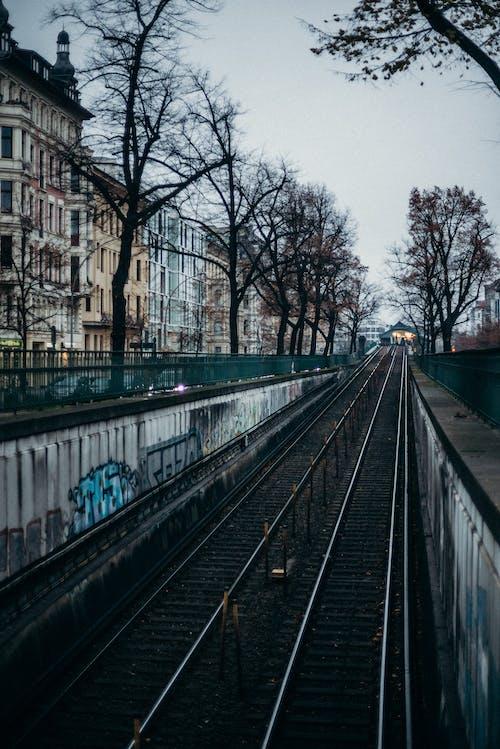 Train Rail in the City