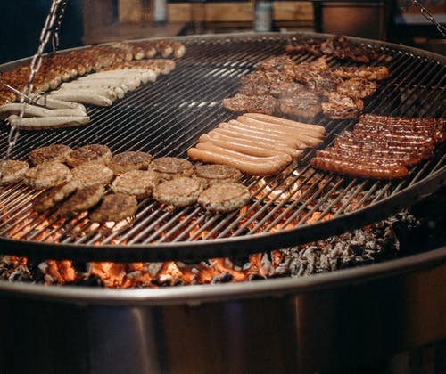 Grilled Meat on Brown Pan